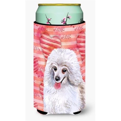 Carolines Treasures BB9770TBC Medium White Poodle Love Tall Boy Beverage Insulator Hugger