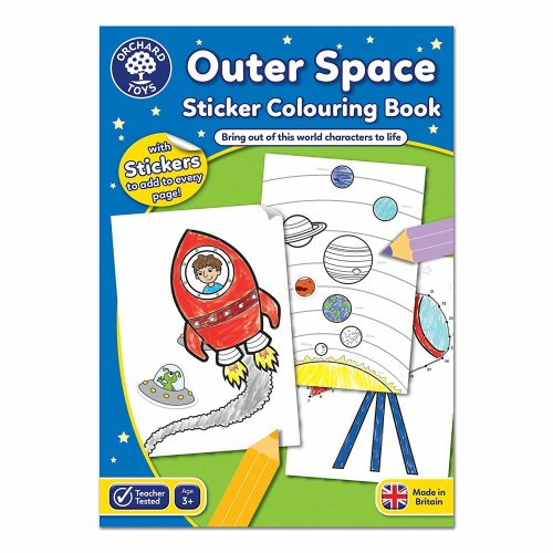 Orchard Outer Space Sticker Colouring Book