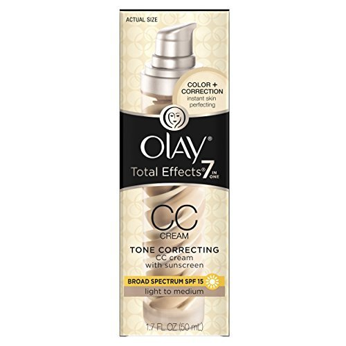 Olay Total Effects 7 In 1 Tone Correcting Uv Moisturizer Light To Medium 1 7 Fl Oz Packaging may Vary