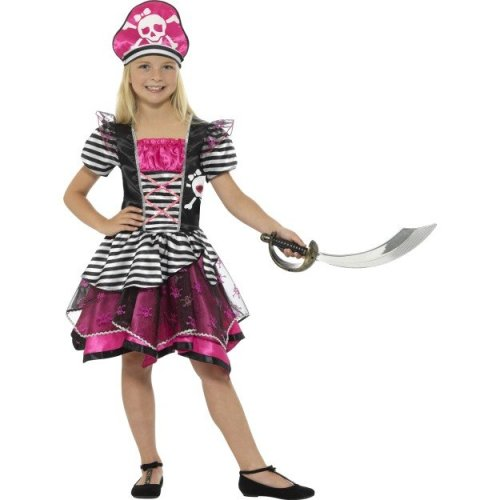 Smiffy's 21981m Perfect Pirate Girl Costume (medium) -  pirate costume perfect dress fancy girls book smiffys childs pink outfit medium buccaneer
