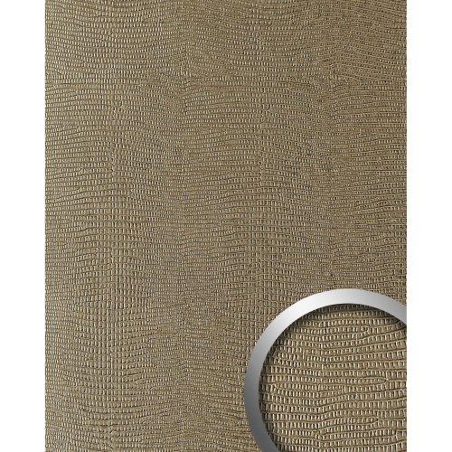 WallFace 16452 LEGUAN Wall panel leather self-adhesive light brown | 2.60 sqm