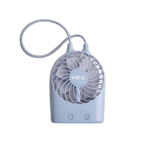 USB Rechargeable Fan Portable Fan Desk Fan for Office/Home, Blue