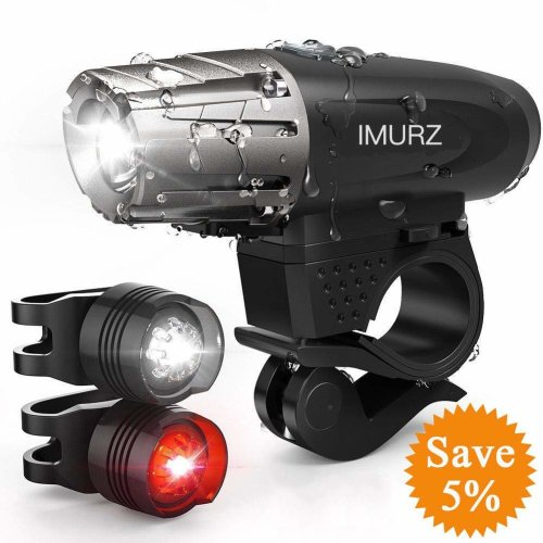 Mountain Bike Lights Set USB Rechargeable Cycling lights Headlight-Taillight Combination IP65 Waterproof Super Bright LED Bicycle Front and Rear...