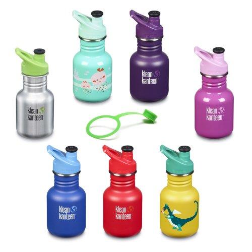 Klean Kanteen Kids drinks bottle stainless steel 355ml - Sport Cap - new designs