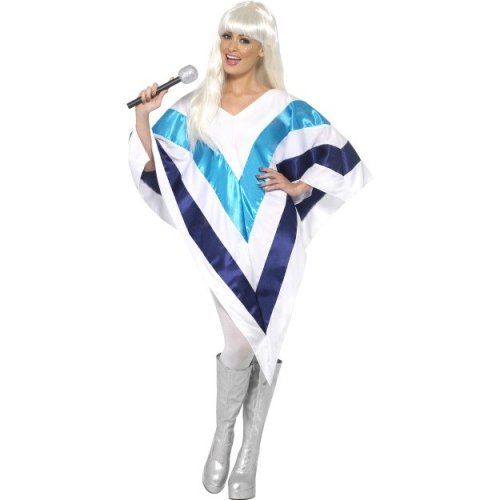 Smiffy's Women's Super Trooper Poncho, 70 Disco, Serious Fun, One Size, 33568 -  super trooper poncho womens disco fancy dress cape costume smiffys