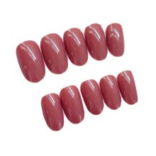 2 Box Simple Style Brick Red Artificial False Nails Tips Fake Nails Decoration