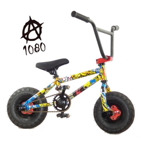 "1080 Kids Stunt Freestyle Comic Strip 10"" Wheel Mini BMX Bike Limited Edition"