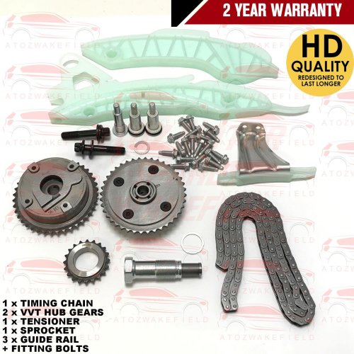 FOR PEUGEOT 308 1.4 1.6 VTI + GTI CC SW 2007-- TIMING CHAIN KIT + VVT HUB GEAR