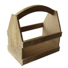 Oak Effect Wooden Plant Carrier