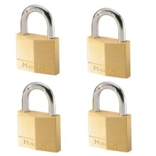 Master Lock Padlocks 4 pcs Solid Brass 40 mm 140EURQNOP