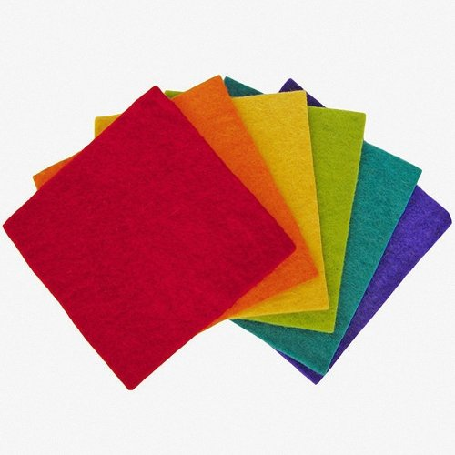 D72-73993 - Dimensions Wool Felt - Squares - 6 Pack