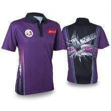 XQmax Darts Andy Hamilton Replica Match Shirt Purple Size M QD9200330