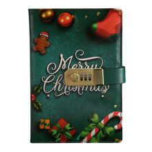 Creative Password Notebook With Lock Notebook Diary Business Notepad, Christmas