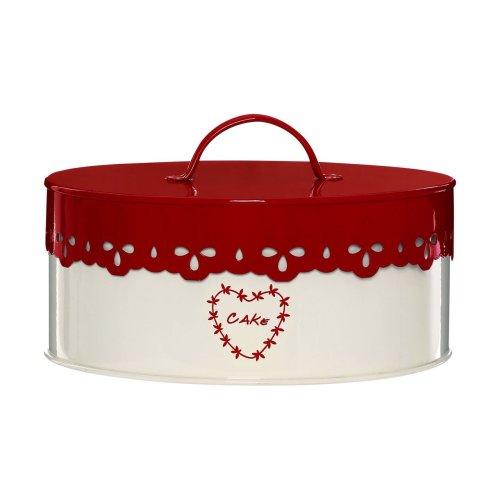 Anglaise Cake Tin - Cream/Red