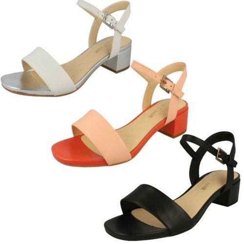 Ladies Clarks Peep Toe Heeled Sandals Orabella Iris - D Fit