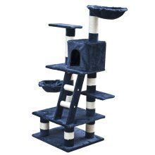 Cat Play Tree 122 cm Dark Blue Plush