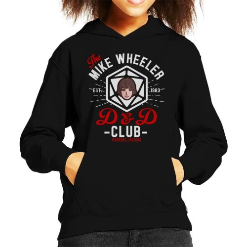 Stranger Things Mike Wheelers D And D Club Kid's Hooded Sweatshirt
