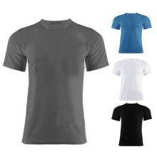Mens Thermal Short Sleeve Warm Vest Inner Top Underwear Shirt