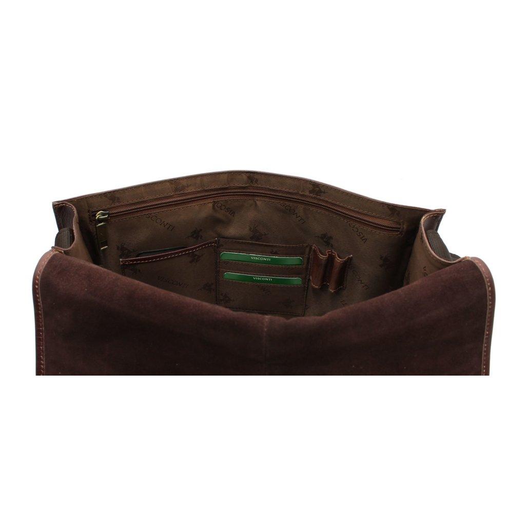 471dac4ce68 ... Visconti Aldo Vintage Tan Leather Briefcase VT7 - 1 ...