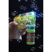 Smiffy's Bubble Gun Light-up Includes Pot And Batteries - Light Up Kids Prop -  bubble gun pot light up kids prop