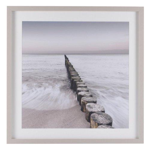 North Sea I Short Groynes Framed Print