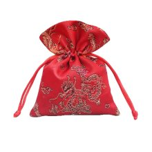 Flower Design Candy Pouch Drawstring Bag Cloth Gift Bag 20pcs#2