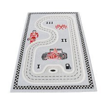 Little Helper 3D Childrens Rug & Play Mat, Race Track Design 100x150cm