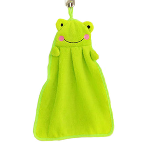 Hand Towels Soft Thick Hanging Drying Wipe Dish Cloth for Kitchen/Home - Frog