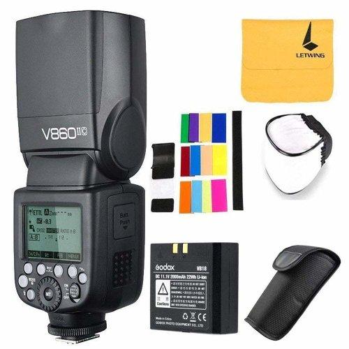 Godox Ving V860II-C TTL Flash 2.4G Wireless E-TTL II Li-on Battery Camera Flash Speedlite for Canon Camera 6D 50D 60D 1DX 580EX II 5D Mark II III +...
