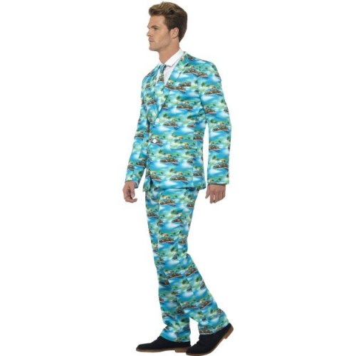 5ad3e5ce1cdd Smiffy's Adult Men's Aloha! Suit, Jacket, Trousers And Tie, Stand Out  Suits, - suit stand out fancy dress mens aloha costume stag party hawaiian  do on OnBuy