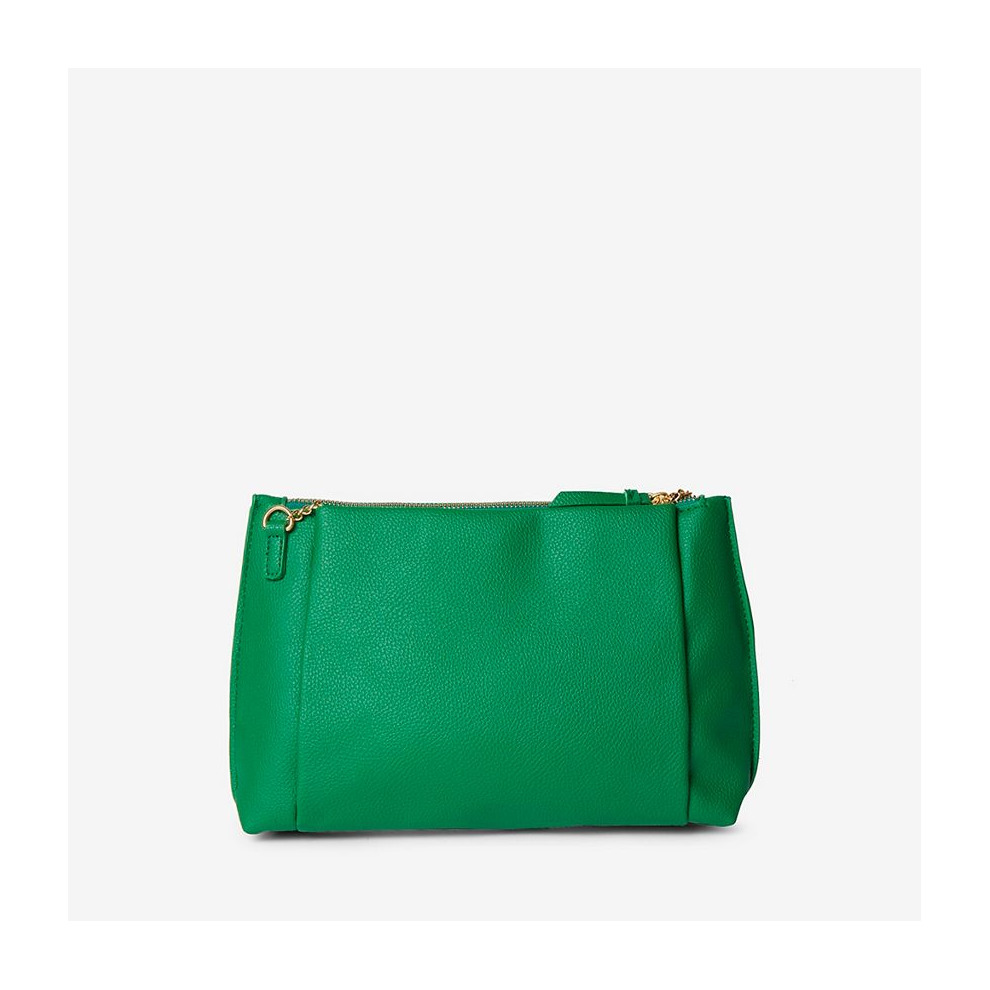 241dc78a8c DOROTHY PERKINS GREEN POUCH ZIP TOP CLUTCH BAG on OnBuy