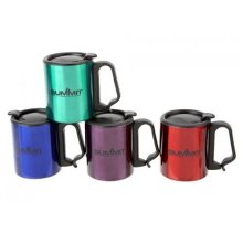 Summit 300ml Double Walled Mug With Lid Clip Handle -  mug 300ml lid summit double clip