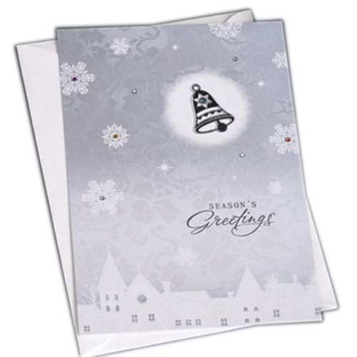 Christmas Cards Greeting Cards Christmas Gift Xmas Cards (4 Cards and Envelopes), Silver # 11
