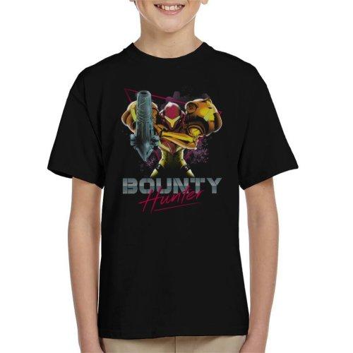 Classic Bounty Hunter Retro 80s Metroid Kid's T-Shirt