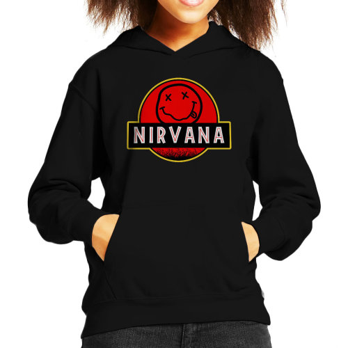 Nirvana Jurassic Park Smiley Kid's Hooded Sweatshirt