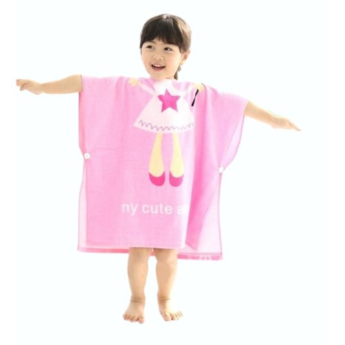 Cartoon Animal Series Soft Baby Hooded Bath Towel (120*60CM) / Pink Angel