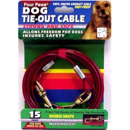 Four Paws Products FP85615 15 ft. Cable Dog Tie-Out
