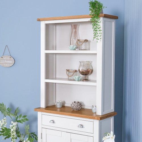 Chester White Painted Oak Small Sideboard Dresser Top