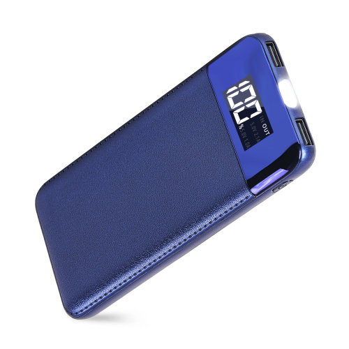 ARIO®18000mAh PU Leather Case PowerBank for all mobile phones (Blue)