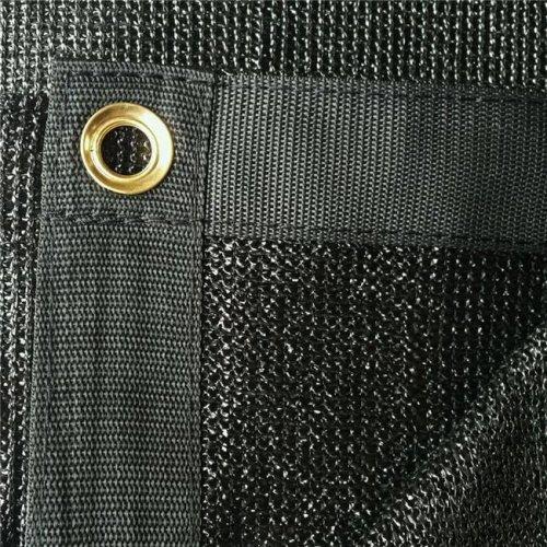 10 x 28 ft. 90 Percent Premium Fabric Sail Sun Shade Cloth - Black