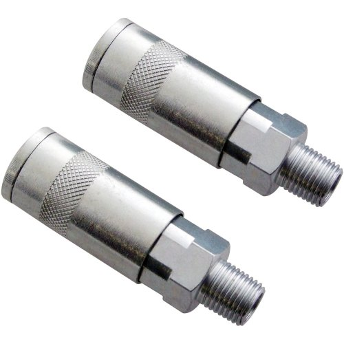 2Pc Am-Tech Quick Coupler Airline Fitting Male