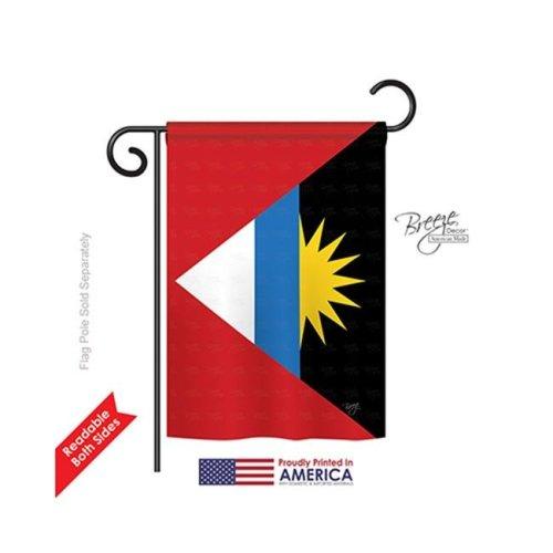 Breeze Decor 58281 Antigua & Barbuda 2-Sided Impression Garden Flag - 13 x 18.5 in.
