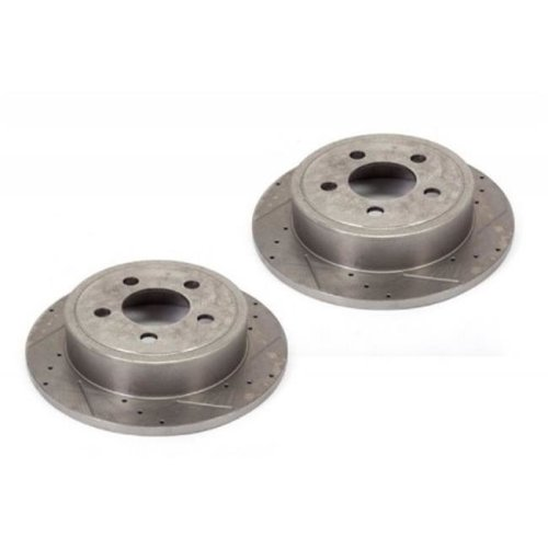 Alloy USA 11352 Disc Brake Rotors 2, Drilled and Slotted, 03-06 TJ And 02-07 Liberty