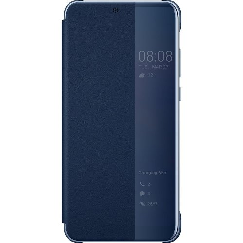 Official Huawei P20 Pro Smart View Flip Cover - Deep Blue