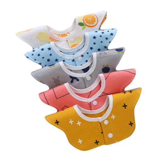 Set of 5 Baby Soft Cotton Saliva Towels for Toddler and Kids