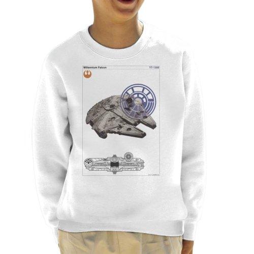 Star Wars Millenniumm Falcon Orthographic Kid's Sweatshirt