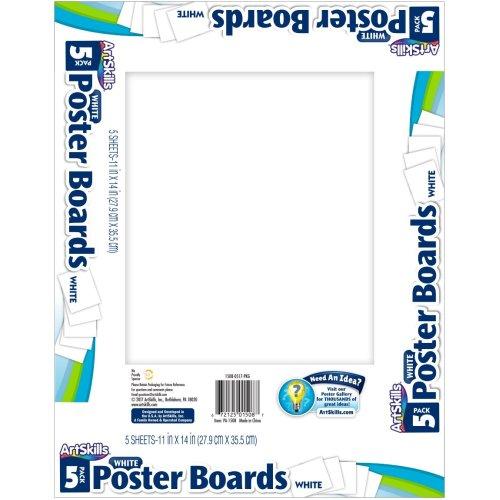 "Posterboard 11""X14"" 5/Pkg-White"
