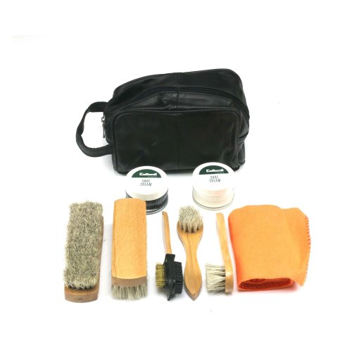 Eco Shoe Cleaning Kit in Leather Bag Non-toxic Non-flammable polish