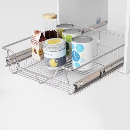 2 pcs Pull-Out Wire Baskets Kitchen Base Larder Units Storage Organiser 500 mm