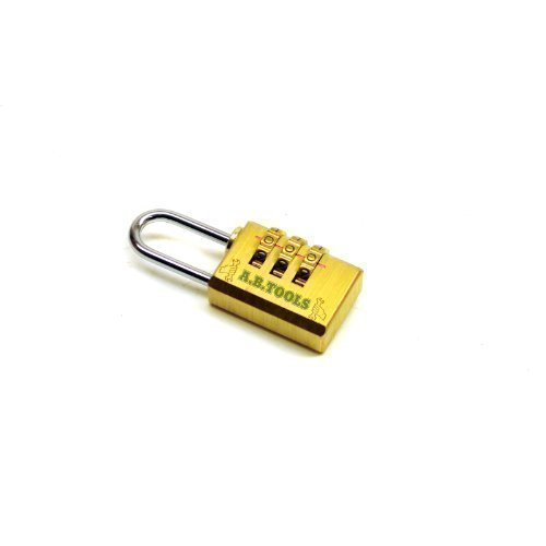 Toolzone Solid Brass Combination Padlock Small